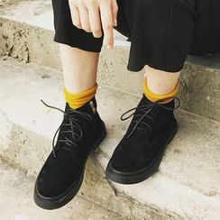 QQ Trend - 人造麂皮马丁鞋
