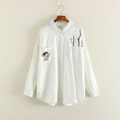 Mushi - Fish Embroidered Shirt