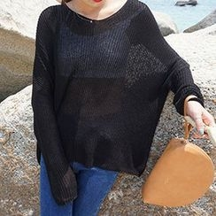 Sinbounboun - Plain Sheer Sweater