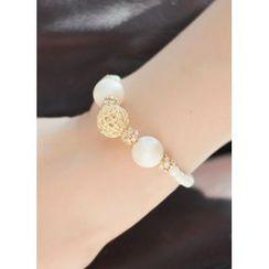 kitsch island - Faux-Pearl Bracelet