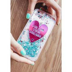 Chlo.D.Manon - Heart Glitter Transparent iPhone 6 / 6 Plus Case