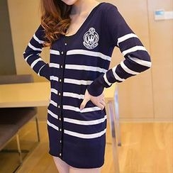 Coralie - Striped Knit Cardigan