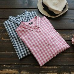 YOYO - Long-Sleeve Check Blouse