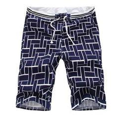 Bay Go Mall - Patterned Drawstring Shorts