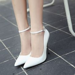 Anran - Ankle Strap High Heel Pumps