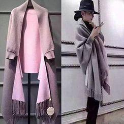 lilygirl - 流苏围巾领披肩