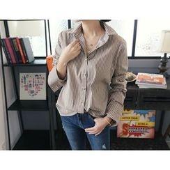 DANI LOVE - Long-Sleeve Stripe Shirt