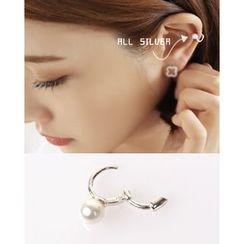 Miss21 Korea - Faux-Pearl Earring (Single)