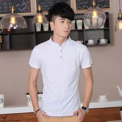 Walwa - Short-Sleeve Plain Polo Shirt