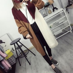 Dream Girl - Color block Long Cardigan