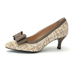 MODELSIS - Bow-Accent Tweed Pumps