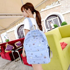Golden Kelly - Print Canvas Backpack
