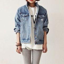 雅典娜 - 做舊牛仔布夾克