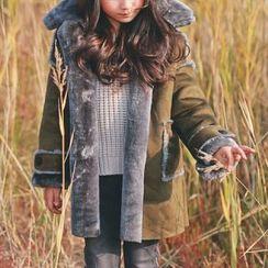 memene - Kids Faux-Suede Coat