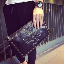 Yiku - Cross Studded Clutch