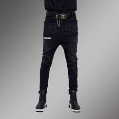 Shawale - Drop-Crotch Slim-Fit Jeans