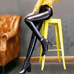 Tonya - Faux Leather Leggings