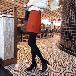 Styleberry - Zip-Side Mini Skirt