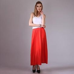 YiGelila - Band-Waist Maxi Skirt