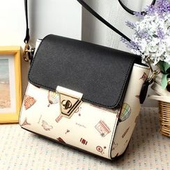 Princess Carousel - Print Flap Crossbody Bag