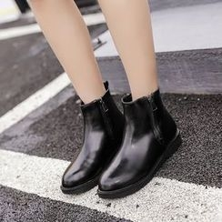 Anran - Zip Short Boots