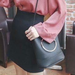 mimi&didi - High-Waist A-Line Mini Skirt