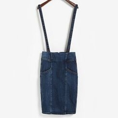 Colorpolitan - Zip-Back Denim Jumper Skirt