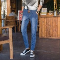 Hawoo - Washed Slim-Fit Jeans