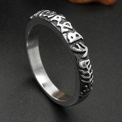 Andante - Titanium Steel Aztec Ring