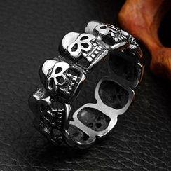 Andante - Titaniium Steel Skull Ring