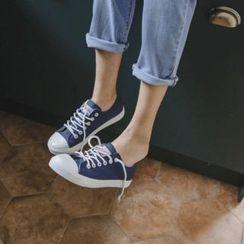 JUSTONE - Toe-Cap Canvas Sneakers