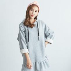 BAIMOMO - Hooded Ruffled Dress