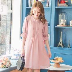Tokyo Fashion - Short-Sleeve Pintuck Dress