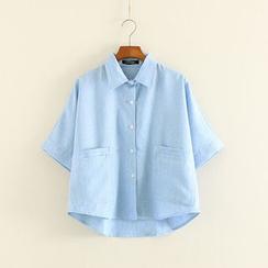 三木社 - 短款中袖襯衫