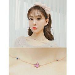 soo n soo - Butterfly Pattern Necklace