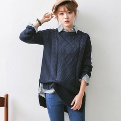 JUSTONE - Cable-Knit Sweater