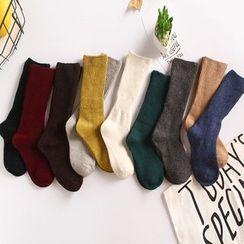 Rosikane - Set of 5: Plain Socks