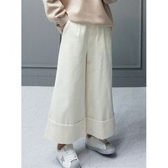 STYLEBYYAM - Corduroy Wide-Leg Pants
