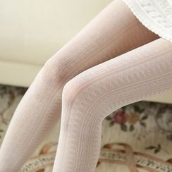 Cappuccino - Lace Tights