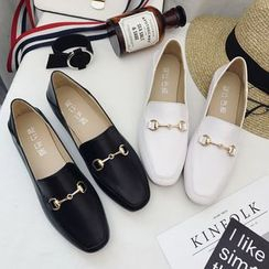 IYATO - Square-Toe Buckled Loafers