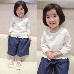Happy Lala - 兒童長袖鏤空上衣