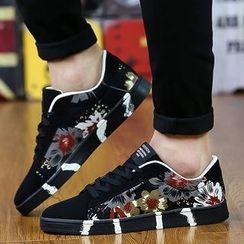 Muyu - 印花拼接休閒鞋