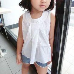 Happy Lala - 兒童無袖純色襯衫