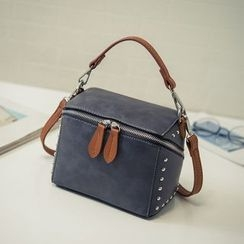 Pandabada - Studded Zip Handbag