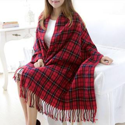 RGLT Scarves - Fringed Plaid Scarf