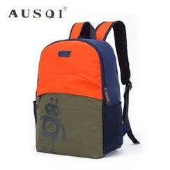 Ausqi - Kids Robot-Print Backpack