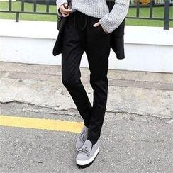 CHICFOX - Brushed Fleece Lined Sweatpants