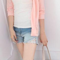 OrangeBear - Washed Denim Shorts