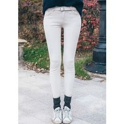 Chlo.D.Manon - Brushed-Fleece Lined Skinny Pants