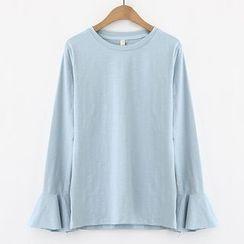 Meimei - 喇叭长袖T恤